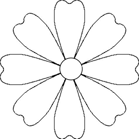 Petal Template by Flower 8 Petal Template By Baj A Flower That Could