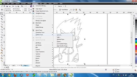 membuat outline coreldraw draw membuat outline gambar di corel draw