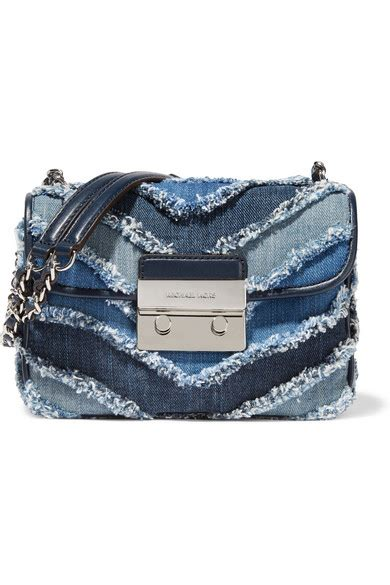 Mk Sloan Multi Denim michael michael kors sloan small frayed denim shoulder bag multi blue modesens