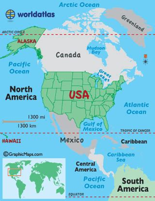 usa on world map united states map worldatlas