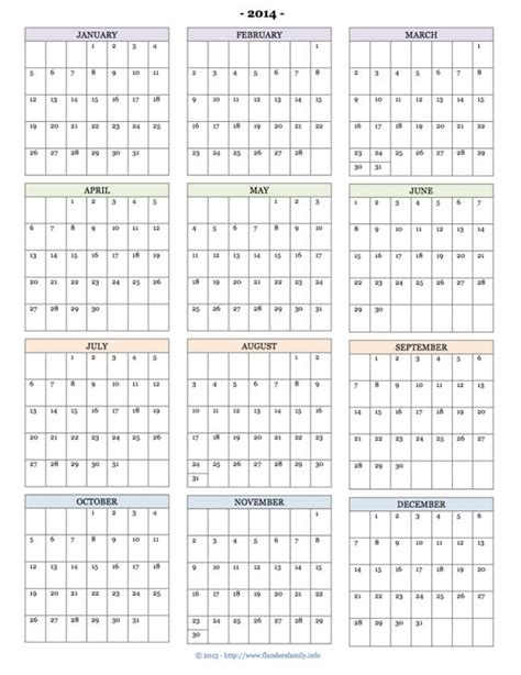 free printable calendars for 2014 monthly pages year at