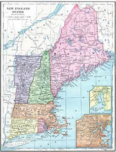 Where Is New England On The Map by Map Of New England Travel Holiday Map Travelquaz Com