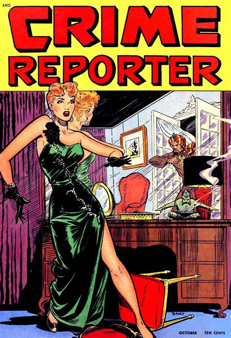 comic book reporter crime reporter 3 matt baker cover pencil ink