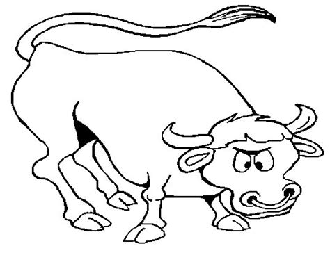 Free Bull Coloring Sheet Printable For Kids Bull Coloring Pages