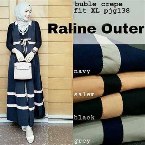 maxi raline busana wanita raline outer model baju remaja modis terbaru