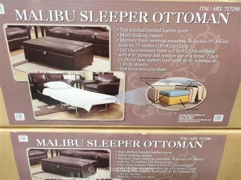 ottoman bed sleeper costco synergy malibu sleeper ottoman
