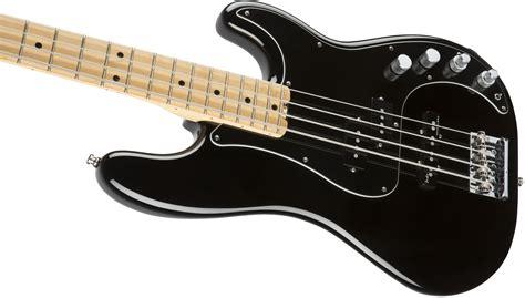 Bass Black fender american elite precision bass 174 maple fingerboard black