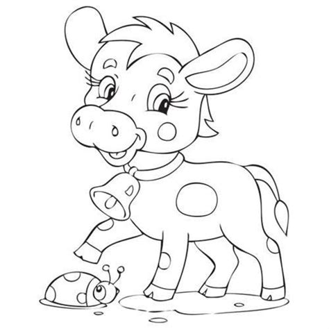 cow bell coloring page 176 best images about color me on pinterest christmas