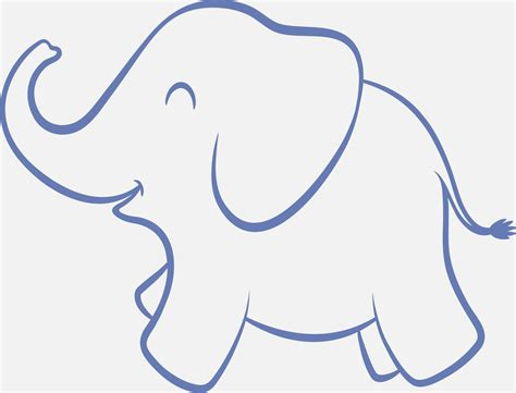 elephant cut out template 7 best images of elephant baby shower free printable