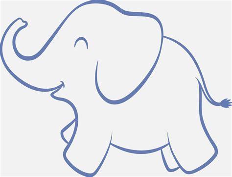 Pin Elephant Stencil Outline Version on Pinterest
