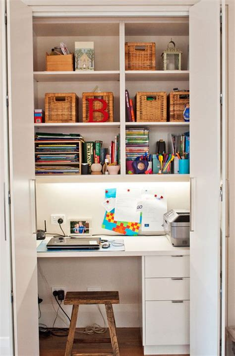 kitchen in a closet 20 clever ideas to design a functional office in your kitchen