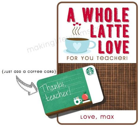 Starbucks Gift Card For Teachers - pin by jennifer pighini on school days pinterest