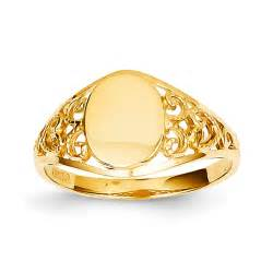 kevin jewelers 14k yellow gold oval filigree s