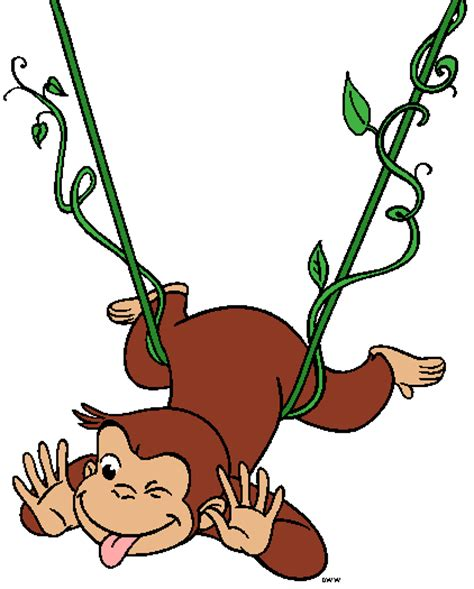 curious george swinging curious george clipart cartoon characters images the