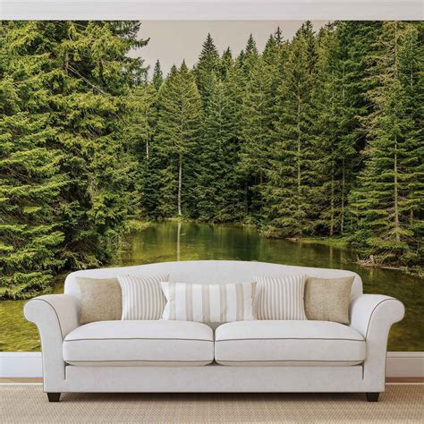 nature wall murals river forest nature wall paper mural buy at europosters