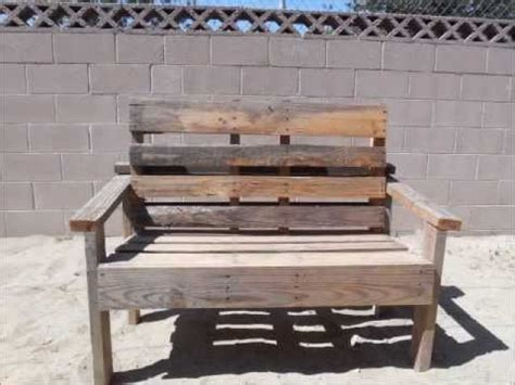 building a bench out of pallets pallet bench simple to build youtube
