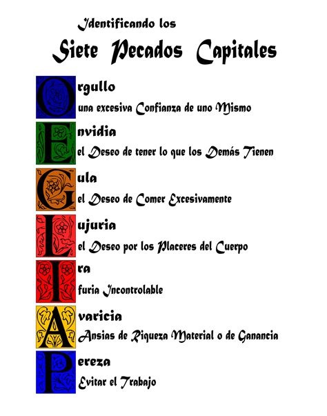 los siete pecados capitales not a valid community religion spiritual and motivation