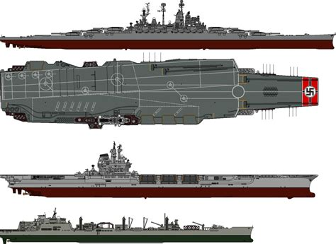 u boat aircraft carrier kriegsmarine aircraft carrier and battleship by someone1fy