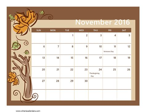 november calendar template search results for 2016 monthly calendar printable
