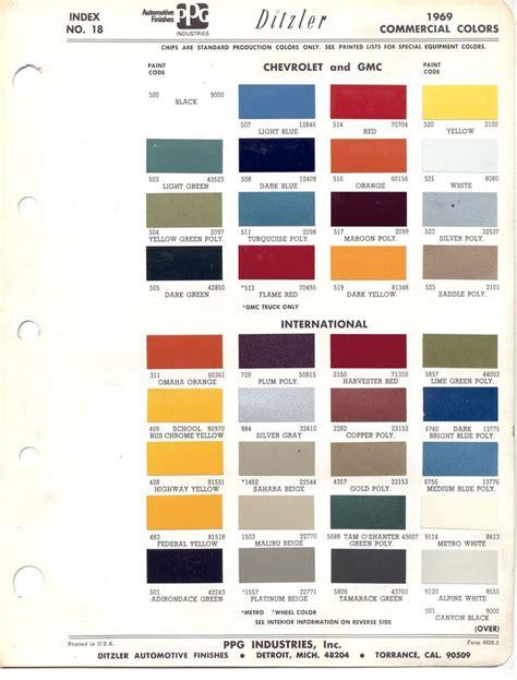 gm color codes 1969 chevy blazer original colors weve got chevrolet all