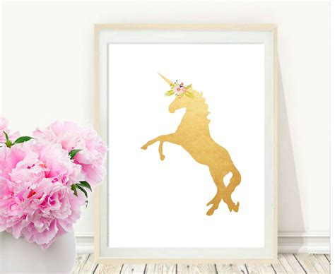 unicorn printable art unicorn print printable art gold unicorn unicorn wall art
