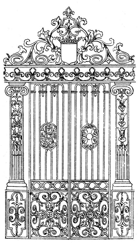 Vintage Image - Ornate Gate | The Graphics Fairy Images