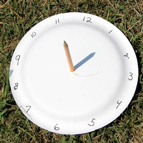 How To Make A Sundial Out Of Paper - paper plate sundial family crafts