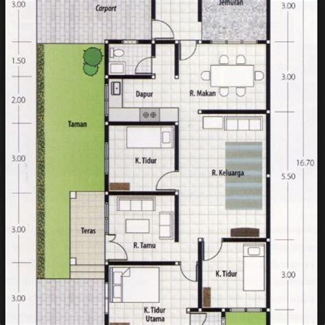 denah rumah  kamar ukuran  terbaik  terbaru desain rumah ridha denah rumah rumah
