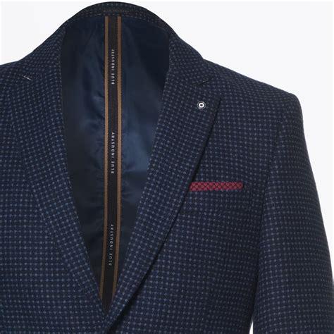 samsoe mira blue pattern jacket blue industry blue puppytooth blazer navy mr mrs