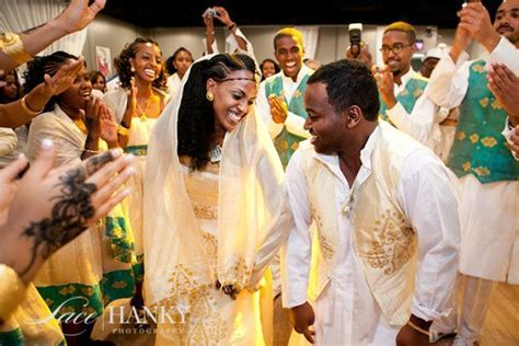 Eritrean wedding! Bride and Groom dancing in Traditional