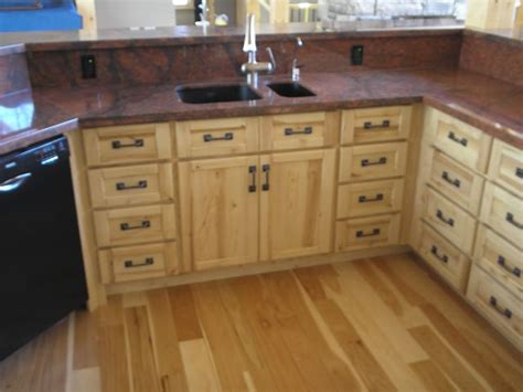 custom sandblasted rustic ash kitchen