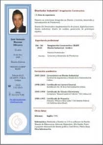 formatos de curriculum vitae en espa 227 177 ol resume template
