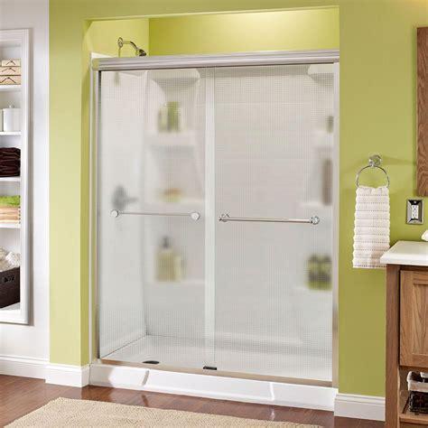 Semi Frameless Sliding Shower Door Delta Crestfield 60 In X 70 In Semi Frameless Sliding