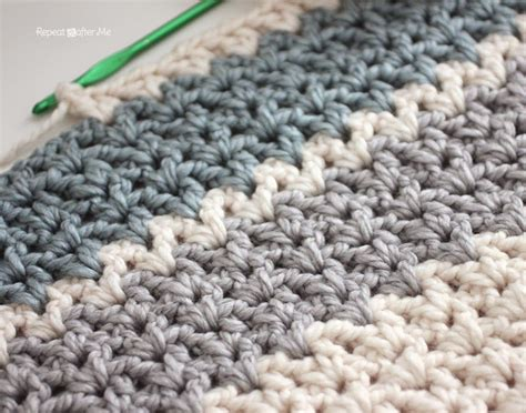 afghan pattern chunky yarn repeat crafter me quick and easy chunky crochet v stitch