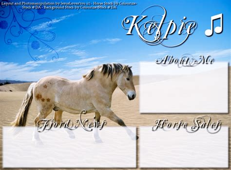 layout design howrse kelpie howrse layout by proanimalphotography on deviantart