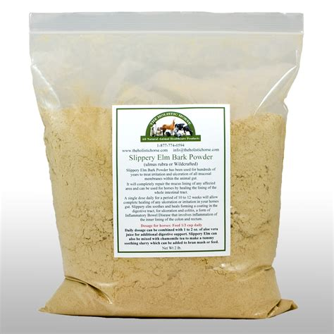 slippery elm for dogs organic slippery elm powder for horses 2 lbs the holistic