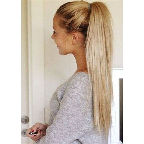 Ponytail Hairstyle Tools by Ponytail Hairstyles Liked On Polyvore Featuring