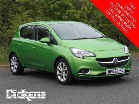 vauxhall green vauxhall 2016 corsa sri ecoflex petrol green manual car