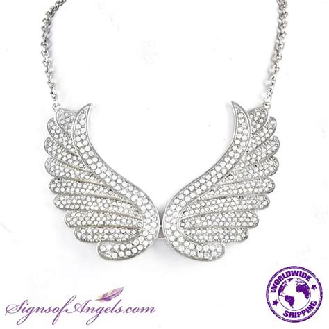 Rhinestone Wing Necklace 17 best images about wings guardian