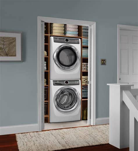 electrolux elwadrew stacked washer dryer set front load washer electric dryer island white