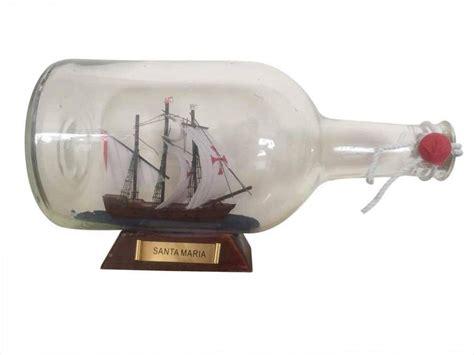 boat in a bottle buy santa maria model ship in a glass bottle 9 inch