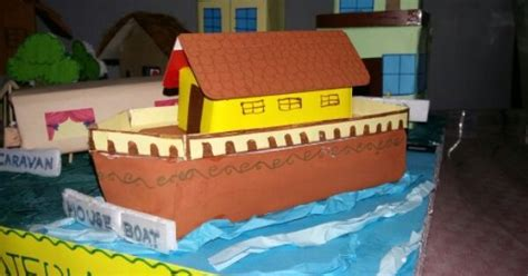 how to make a boat for school project model of house boat with cardboard boxes for school