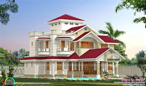 Kerala Home Design July 2015 One Home In 2 Different Colors Kerala Home Design And