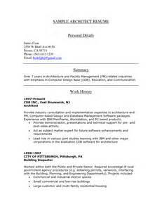 architect resume sle quantity surveyor cv template