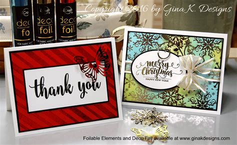 Deco Cards Designs k designs sttv deco foil giveaway and a