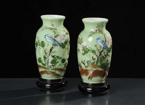 vasi porcellana cinese coppia di vasi in porcellana cina xx secolo arte