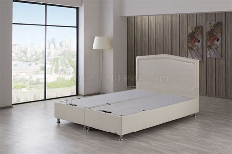 Tv Bed Lift 5714 by Casa Rest Bed Upholstered In Leatherette By