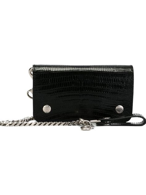 Walet 2 In 2 lyst laurent rider chain wallet in black for