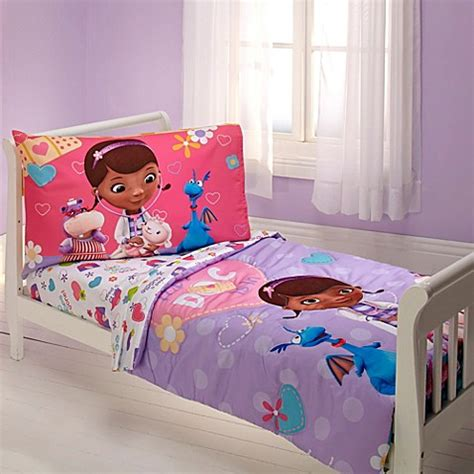 doc mcstuffins bed disney 174 doc mcstuffins 4 piece toddler bed set buybuy baby