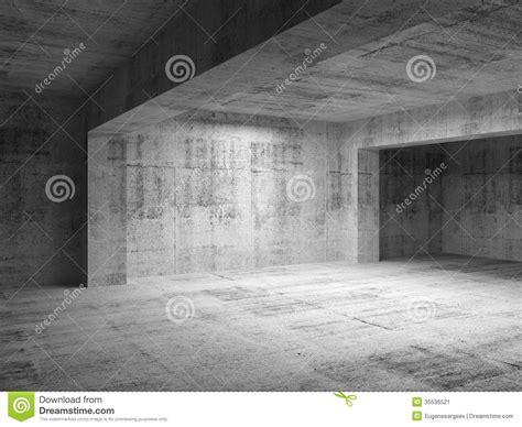 empty abstract dark concrete room interior stock image
